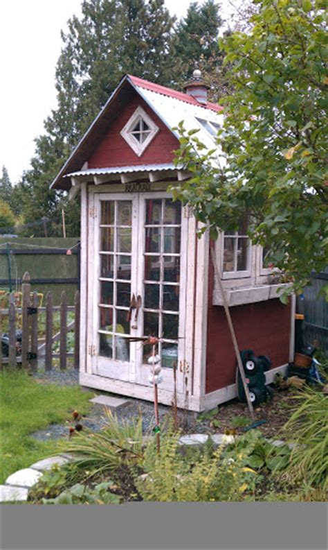 charming garden sheds from salvaged materials