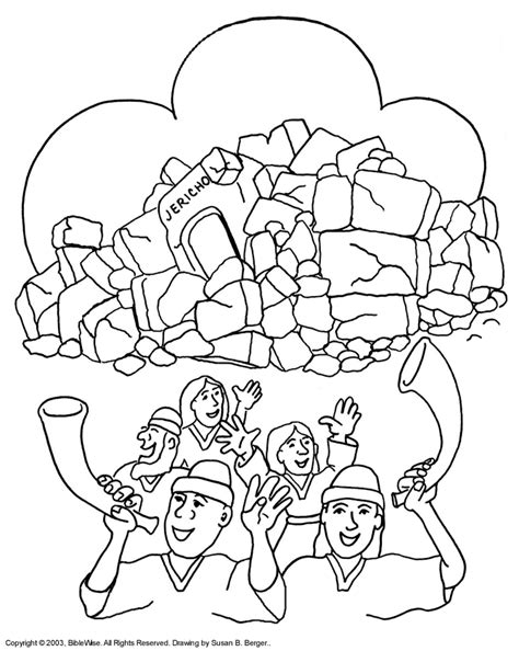 Free Coloring Pages Of Joshua And The Battle Of Jericho joshua and the battle of jericho coloring page az
