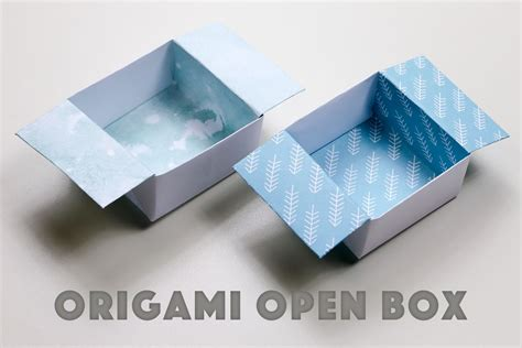 Simple Box Origami - origami open box easy