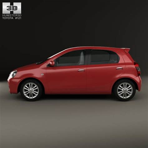 Toyota Etios Car Models Toyota Etios Liva 2014 3d Model Humster3d