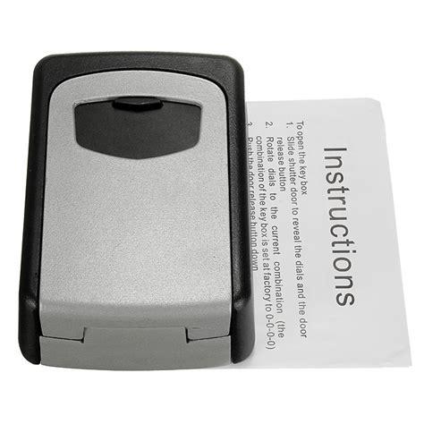 Kunci L Baja tembok baja gunung kunci kombinasi kotak penyimpanan yang aman di luar kunci keamanan lazada