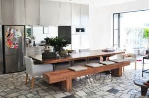 modern dining table with bench dining room benches with contemporary edge