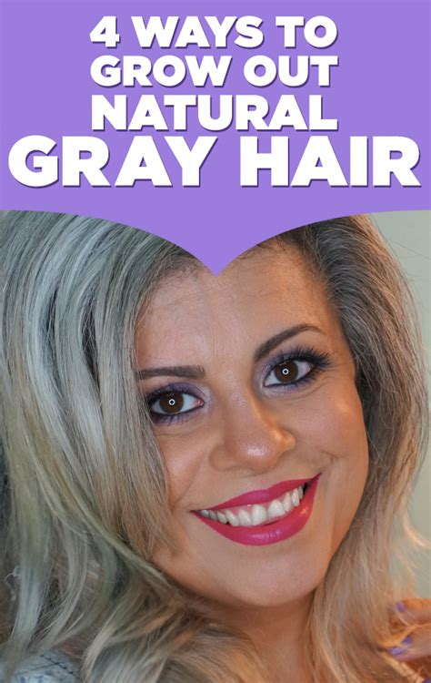 how to grow in gray hair with highlights here are 4 ways to grow out natural gray hair if you re