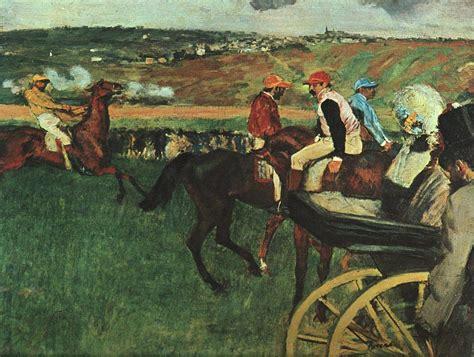 Lukisan The Class Karya Edgar Degas 1874 Dekorasi Replika at the races by edgar degas facts history of the painting