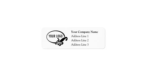 Business Return Address Labels With Custom Logo Zazzle Business Address Labels Templates