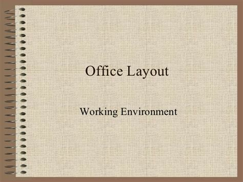 workplace layout ppt office layout