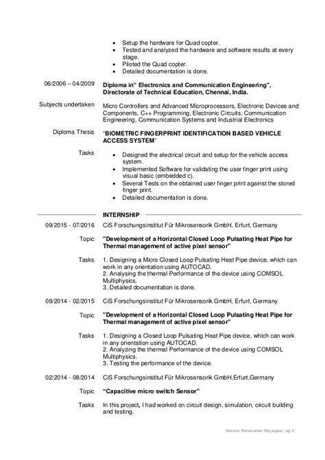 Diploma In Aerial Resume by Lebenslauf