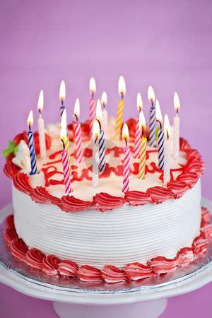 birthday cake  candles stock photo