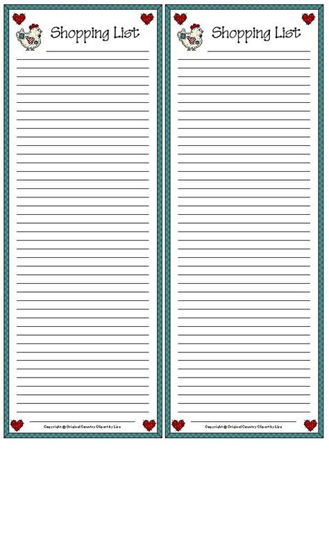Printable Grocery List Paper | 70 best printable to do lists shopping lists and note