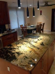 Kitchen Island Granite Countertop Val D Desert Granite Kitchen Countertop Island And Table With Backsplash Granix