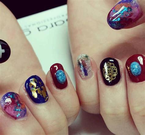 latest nail craze stone nail art the new manicure craze on social media