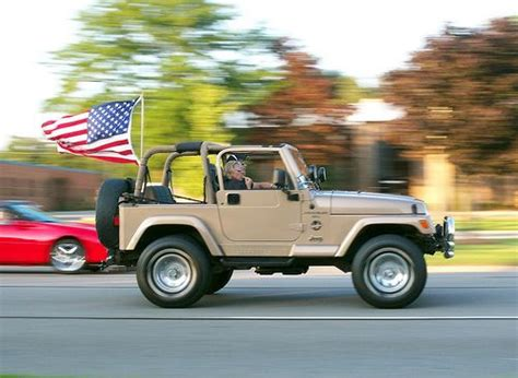 american flag jeep all american jeep wrangler tj with us flag the jeep