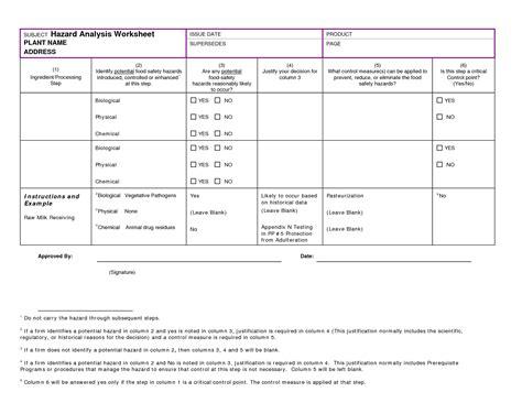 Hazard Analysis Worksheet by Hazard Analysis Worksheet Exles Mickeles Spreadsheet