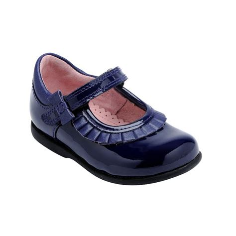 kids shoes fitted childrens footwear by start rite start rite coco girl s navy patent first walking shoe