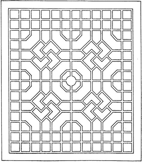 Free Coloring Pages Of Geometric Pyramid Geometric Shapes Coloring Pages