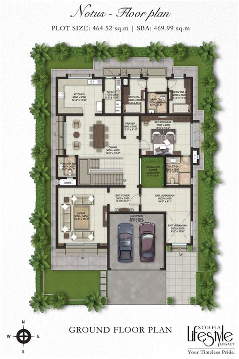 villa plan sobha lifestyle legacy 4 bedroom villas bangalore