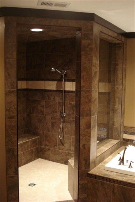 Master Bathroom With Walk In Shower Walk In Shower Tub Combo Bathrooms Pinterest