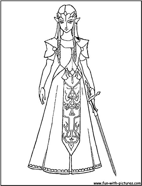 princess zelda coloring page
