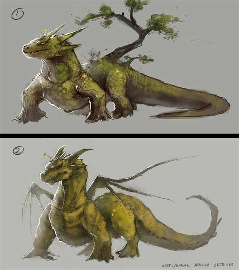 earth nature dragon sketches by mrnepa on deviantart