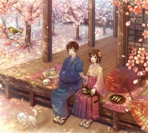 anime japanese love romantic day in a japanese anime love story picture