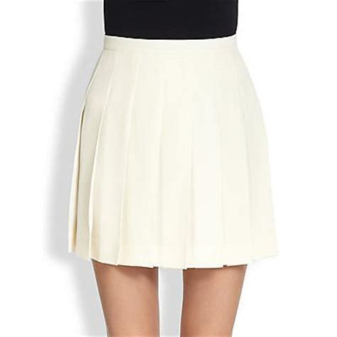 valentino pleated silk skirt ivory where to buy how to