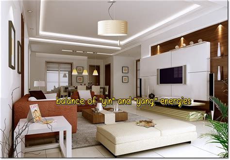feng shui small living room modern house