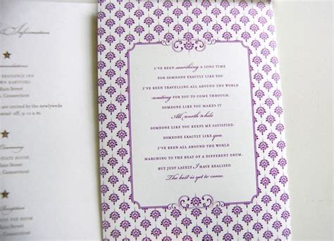 Purple Wedding Invitation Paper by Purple Gold Wedding Invitations