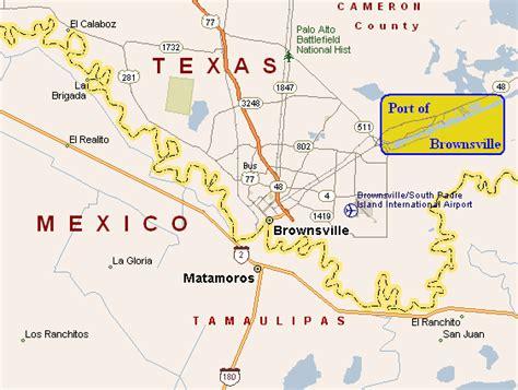 texas map brownsville port of brownsville