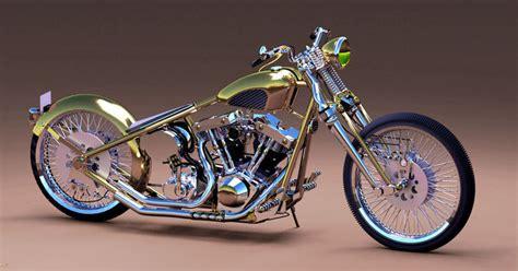 Harley Davidson 6606 List Merah 3d harley davidson bobber with shovelhead engine