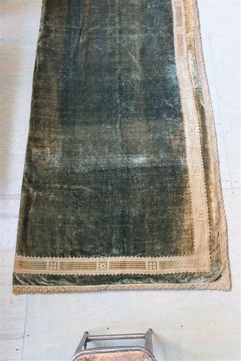 green velvet curtains for sale set of three pairs of antique green velvet drapes for sale