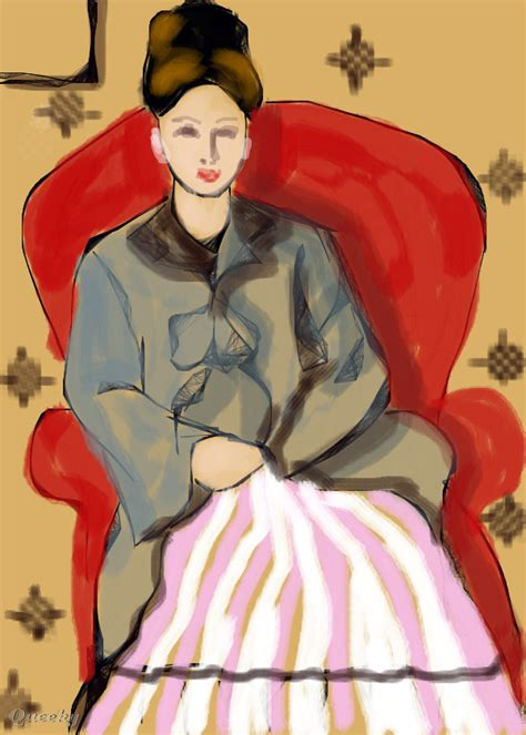 madame cezanne in a red armchair madame cezanne in red armchair a portrait speedpaint