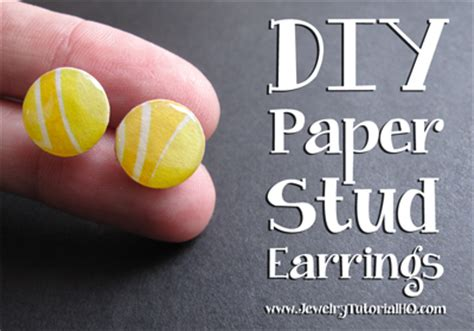 Paper Earrings Tutorial - diy paper stud earrings tutorial jewelry