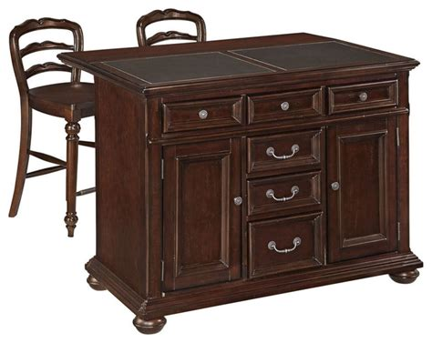 kitchen island cart with stools colonial classic kitchen island with granite top and two