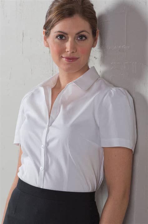 Blouse By Heaven Light Clo front desk open neck sleeve blouse