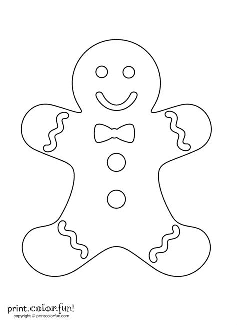 gingerbread man blank coloring page gingerbread man coloring page print color fun