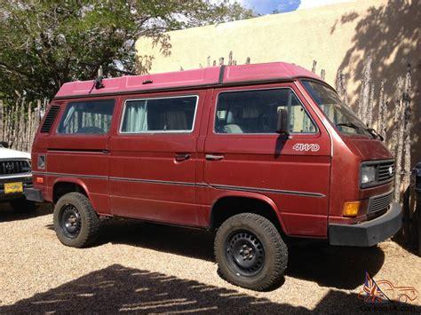 volkswagen westfalia 4x4 1987 vw vanagon syncro westfalia 4x4 full cer