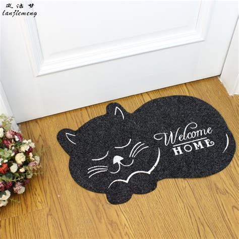 Cat Floor Mats by Cat Shape Floor Mat 40 60cm Anti Slip Floor Kitchen Carpet