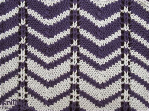 chevron knitting pattern two color chevron pattern is work a of 12