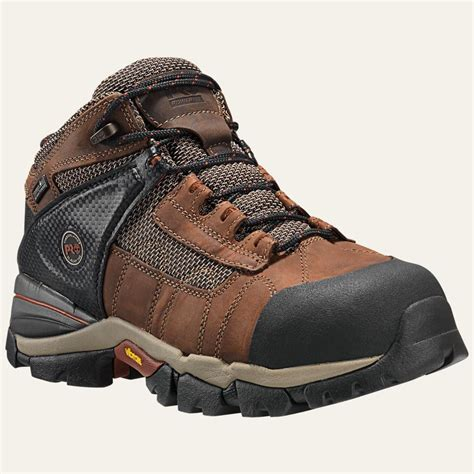 Sepatu Pichboy Boots 10 Brown Safety 4 timberland pro boots mens 4 quot hyperion xl alloy safety toe waterproof brown ebay