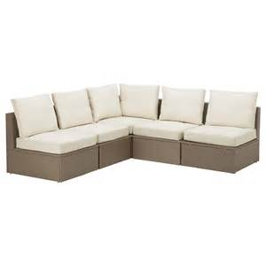 ikea furniture couches arholma corner sofa 3 2 outdoor brown beige 206 206x76x66