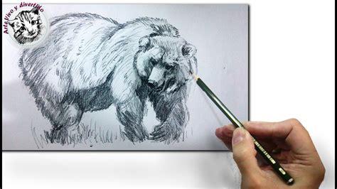 imagenes a lapiz de osos como dibujar un oso realista a lapiz tecnicas de dibujo