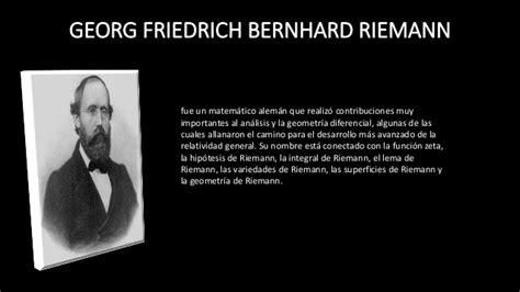 bernhard riemann que hizo aportaciones al calculo