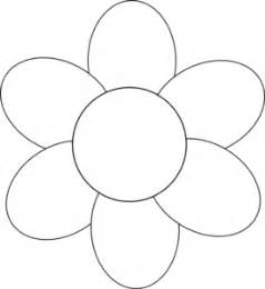 flower template with 6 petals flower six petals black outline clip at clker
