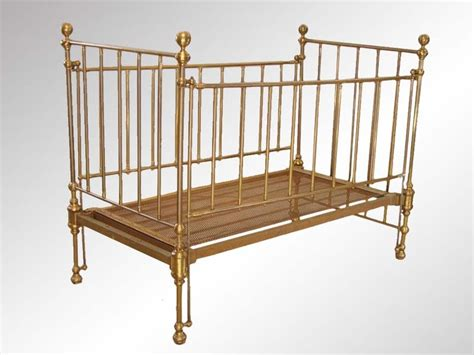 antique brass baby crib furniture antiques toys