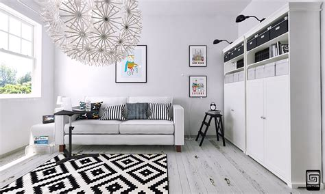 Black And White Scandinavian Interiors by Artistic Apartments With Monochromatic Color Schemes