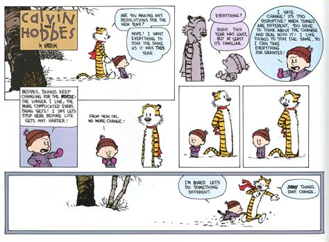 calvin and hobbes new years resolution calvin hobbes resolutions 2 on target