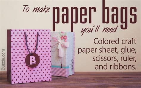 Easy Steps To Make Paper Bags - how to make and fancy paper bags in just 6 simple steps