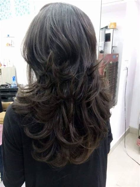 cutting high layer in long hair hair cut transient layer youtube