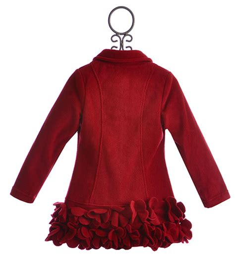 kate mack red holiday coat for girls size 4