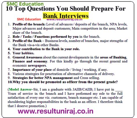 ibps bank interview questions answers